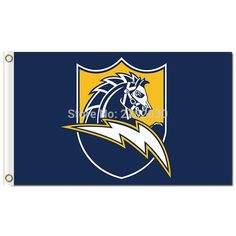 San Diego Chargers Banner World Series Football Team 3ft X 5ft Super Fan 144* 96cm Custom Flag San Diego Chargers Flag