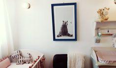 #nursery #kidsroom #frame #wallart #bear #hummingbird