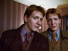 """James and Oliver Phelps aka 'Fred and George Weasley' from """"Harry Potter"""" franchise."""