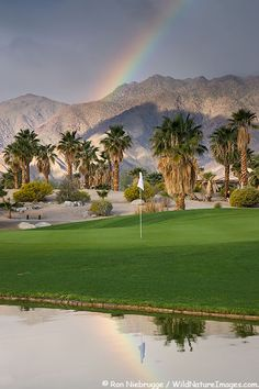 A rainbow at The Springs at Borrego RV Resort and Golf Course, Borrego Springs, California