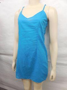 NEW Free People FP Anthropologie Blue V-Neck Cotton Babydoll Slips Sizes 00-14 #FreePeople #FullSlips