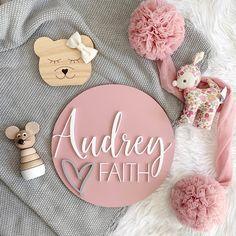 Gorgeous 3D Name Plaque from Faith Laine