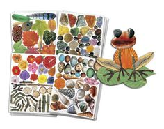 """R15290 Nature Paper Ages 4+ """"Paint"""" with pictures! We've printed beautiful pictures of all natural objects onto top quality craft paper. The images are die-cut so you can pop them out and compose pictures. Use the wonderful selection of flowers, leaves, twigs, shell, stone and rocks to compose pictures of animals, insects, people and places. Images are printed on high quality, acid free paper. Nature Paper is great for seasonal crafts in the spring."""