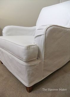 Beau Love The Curves Of An English Rolled Arm Chair. White Slipcover In Carr Go