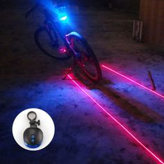 Bicicleta luz trasera/Luces de Bicicleta 2 Laser 5 LED Ciclismo Para Bicicleta Luz Trasera Posterior de La Bicicleta de Advertencia de La Lámpara de La Lámpara de Flash alarma de Luz/de la lámpara