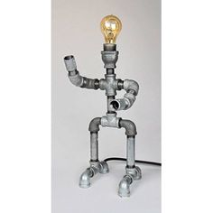 Metrotex Designs Industrial Evolution Robot Pipe Lamp