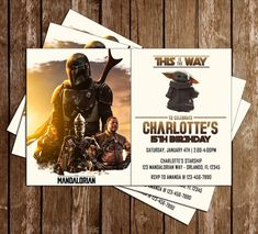 Novel Concept Designs - The Mandalorian - Star Wars - Birthday Party - Invitation