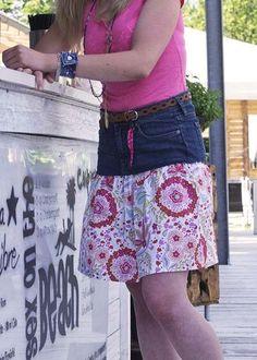 Jeans oder Stoff? Für alle die sich nicht gerne entscheiden aber trotzdem gut aussehen möchten, haben wir hier einen wunderschönen Jeans-Rock mit einem traumhaften Stoff von FreeSpirit! Eva Herr für Coats Anleitung Cooles Jeans-Röckchen als PDF zum Gratis-Download Copyright © … mehr