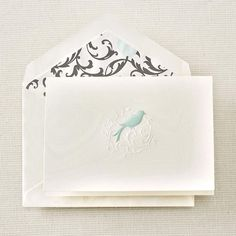 Hand Engraved Aviary Bird Scroll Notes