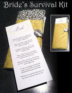 Bride's Survival Kit on Etsy, $16.00