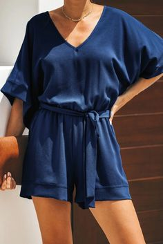 Casual Blue Spring Scene Pocketed Tie Romper - Casual Blue Spring Scene Pocketed Tie Romper – Jojo Like Casual summer dressy romper jumpsuit outfits Formal boho elegant bodycon romper jumpsuit pattern for women Long Sweater Outfits, Long Sweaters, Cool Outfits, Casual Outfits, Casual Dressy, Beautiful Outfits, Rompers Dressy, Spring Scene, Scrappy Quilts