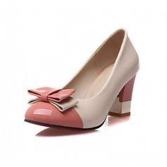 e82db2ecd   28.99  Mujer Zapatos PU Semicuero Cuero Patentado Sintético Primavera Verano  Otoño Invierno Talón Descubierto Innovador Confort Tacones Paseo
