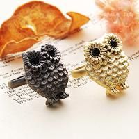 owl rings...I would wear these. So cute!!
