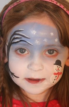 winter face painting ideas | Snowflake Face Painting Ideas and Designs