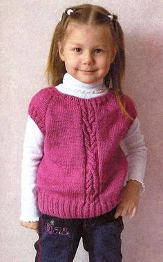 This Pin was discovered by Ayl Kids Knitting Patterns, Baby Sweater Knitting Pattern, Knit Vest Pattern, Knitted Baby Cardigan, Knit Baby Sweaters, Toddler Sweater, Knitting For Kids, Crochet Baby, Knit Crochet
