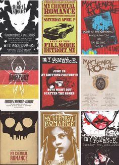 My Chemical Romance flyers
