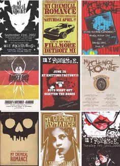 My Chemical Romance flyers