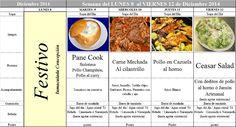 Menú Principal del 8 al 12 de Diciembre de 2014