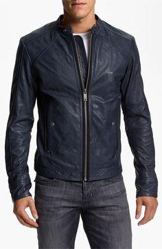 DIESEL® 'Leide' Extra Trim Fit Crinkled Leather Jacket   Nordstrom