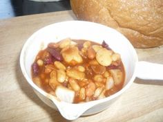 Cowboy Beans....served with some cornbread...mmmm!