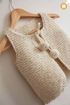 Lil Shepherd – Gilet de berger bébé à adulte – Tricot - Trot Tutorial and Ideas Baby Knitting Patterns, Knitting For Kids, Knitting Projects, Crochet Projects, Crochet Patterns, Free Knitting, Tricot Baby, Pull Bebe, Garter Stitch