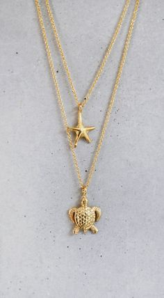 Gold Turtle Necklace