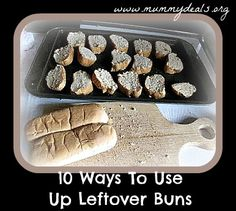 Ever wondered what to do with leftover hamburger and hot dog buns? #mummydeals.org