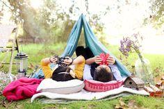 Camping themed e-sesh