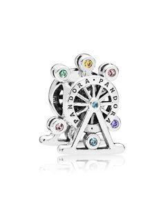 PANDORA Sterling Silver & Cubic Zirconia Ferris Wheel Charm