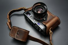 Luigi's Aged Brown Leather Half Case for Leica M9