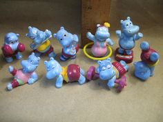KINDER SURPRISE Happy Hippos Fitness 1992 by ValueARTifacts, $19.99