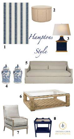 Hamptons Style Blue & White