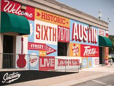 Great mix of Typography on this 6th Street property in Austin Texas. #Typography #Design