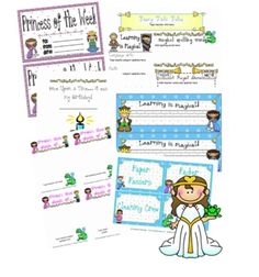 Your students will be swept away into the magic of learning with this fairy tale theme set! You will receive: *fillable newsletter *fillalbe weekl. Classroom Tools, First Grade Classroom, Classroom Themes, August Themes, Weekly Lesson Plan Template, Fairy Tales Unit, Royal Theme, Fairy Tale Theme, Birthday Book