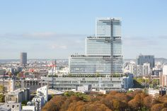 First photos emerge of tiered tower built by Renzo Piano for Paris