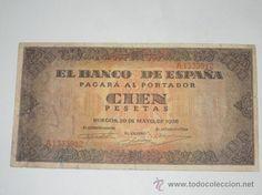 billete 100 pesetas burgos 20 de mayo 1938