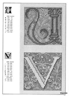 Zweigart Celtic alphabet 13