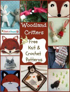 What does the fox say? I think the fox says…it's time to knit and crochet some woodland patterns!