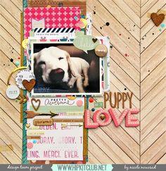 Puppy Love by nicolenowosad at @studio_calico