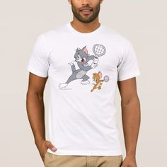 Tom and Jerry Tennis Stars 1 T-Shirt - click/tap to personalize and buy American Apparel, Teenager Birthday, Baby Birthday, Birthday Ideas, Bridal Shower Deco, Best Bud, Toddler Christmas, Nerd Geek, Customized Gifts