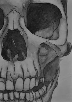Skull drawing in blue and green. Skeleton Drawings, Skeleton Art, Drawings Of Skulls, Skull Color, Pintura Graffiti, Arte Obscura, Anatomy Art, Art Drawings Sketches, Skull Art