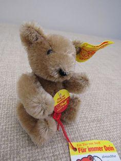Vintage Steiff 3 Miniature CINNAMON Original Teddy Bear