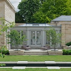 Conservatory and glass house ideas – Garden Room Outdoor Rooms, Outdoor Living, Orangerie Extension, Conservatory Design, Conservatory Garden, Covered Walkway, Glass Extension, Extension Ideas, Garden Design