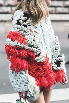 oversized textured knit #style #fashion #streetstyle