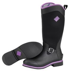 Muck Boots Women's Reign Tall Equestrian Boot - Black/Purple - HeadWest Outfitters