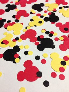 275 piece Mickey Mouse Disney Themed Personalized Confetti Birthday Party on Etsy, $4.00