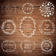 Items similar to Photoshop Clipart Overlay - Wreath Clipart - Save the Date - Woodland Clipart - Floral Clipart - Photoshop Overlay - Wedding Overlay on Etsy Rustic Boho Wedding, Text Tool, Photoshop Overlays, All Fonts, Save The Date, Vintage Fashion, Clip Art, Wreaths