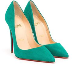 CHRISTIAN LOUBOUTIN So Kate Suede Pumps ($660) ❤ liked on Polyvore featuring shoes, pumps, heels, christian louboutin, sapatos, high heel pumps, cushioned running shoes, suede shoes, christian louboutin shoes y pointed-toe pumps