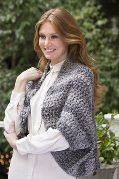 Cool Weather Shrug Free Crochet Pattern in Red Heart Yarns