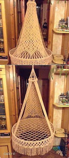 Подвесное кресло-гамак в технике макраме. Мастер-класс